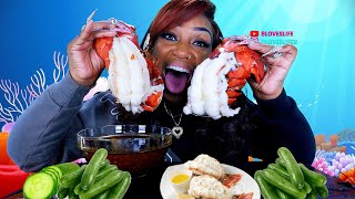 Giant Double Lobster Tail and Cucumber Mukbang (32oz)
