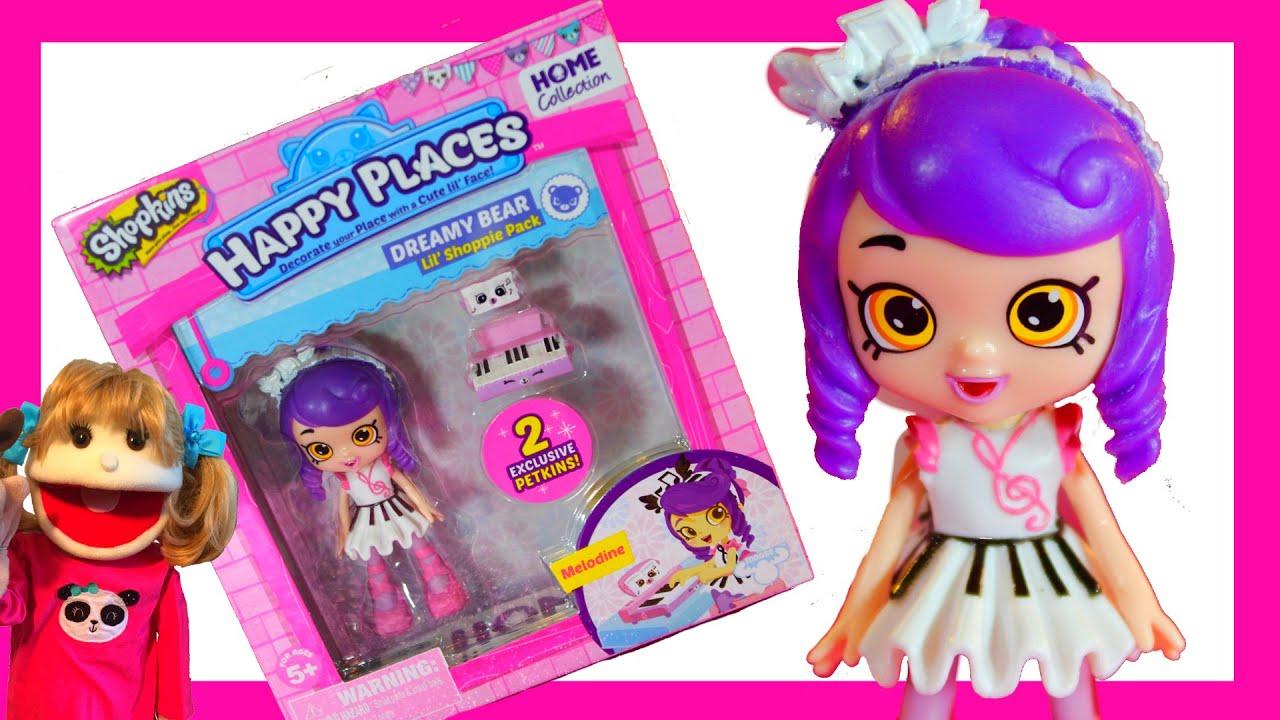 Shopkins Happy Places Lil Shoppie Doll MELODINE w// Exclusives