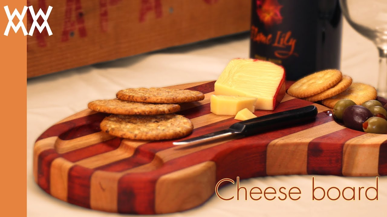Wooden cheese board You can make this simple cutting