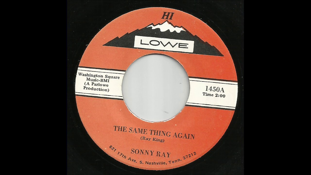 Sonny Ray - The Same Thing Again - YouTube