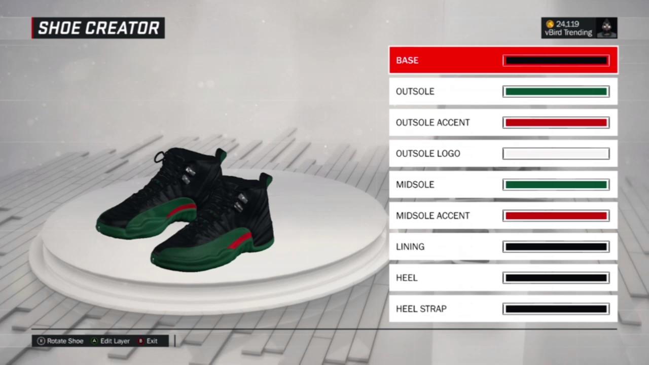 1ba209bd79f NBA 2k17 Shoe Creator - Air Jordan Custom 12