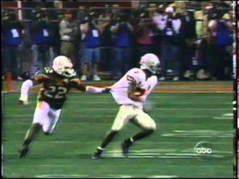 Ohio State -vs Miami Hurricanes (Forget the Interference call) 2002 National Championship