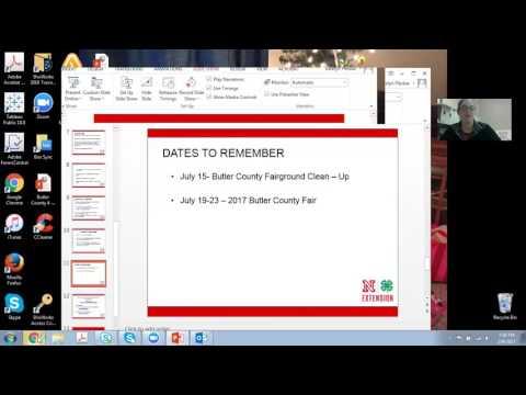 Butler County Nebraska 4-H Informational Webinar