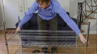 How to Assemble Wire Shelving Racks