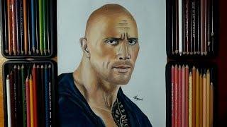Drawing Dwayne jonhson - Dibujo de la roca