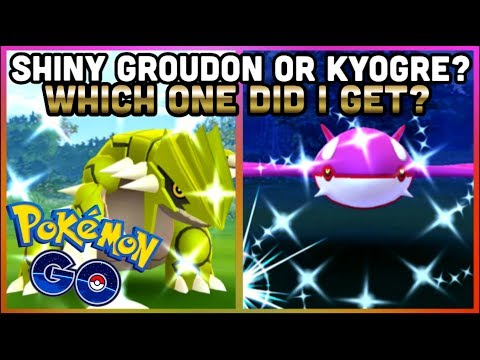 SHINY GROUDON OR SHINY KYOGRE IN POKEMON GO | WHAT DID I GET? | SHINY ZIGZAGOON CAUGHT! thumbnail