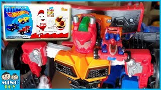 Surprise egg Kinder joy Hot wheels & Hello Carbot Miniforce X Transformation play for kids