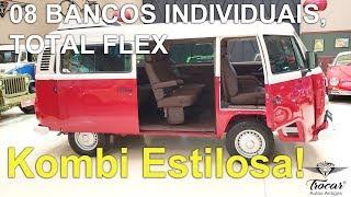 Já pensou viajar em uma Kombi Luxuosa assim Serviço de tapeçaria completa da VW Kombi, motor FLEX