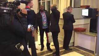 Super Eagles' Coach Arrives Russia