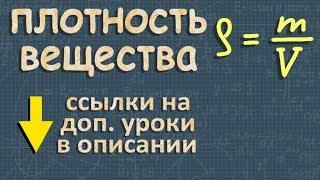 Плотность вещества ➽ Физика 7 класс ➽ Видеоурок ➽ Перышкин