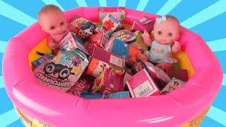 Куклы Пупсики Открываем много сюрпризов Свит Бокс в бассейне из мультиков Фиксики и Барби Зырики ТВ