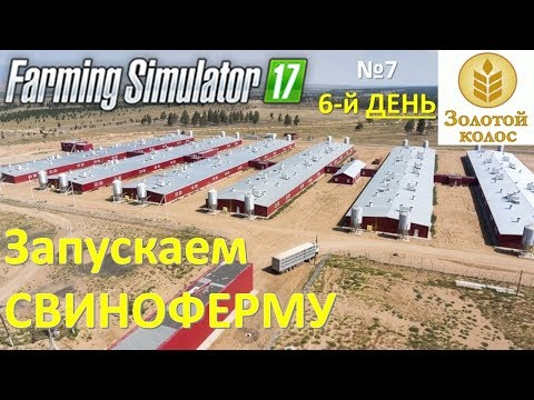 Farming Simulator 2017 Прохождение 6-й ДЕНЬ Запускаем свинарник  (Золотой Колос)