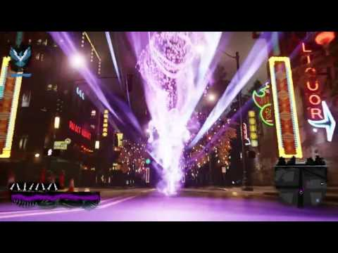 inFAMOUS Second Son Free Roam Neon Running At Night