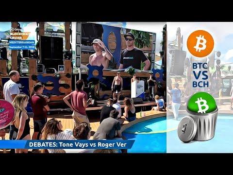 Tone Vays vs Roger Ver - BTC/BCH Debate from Blockchain Cruise
