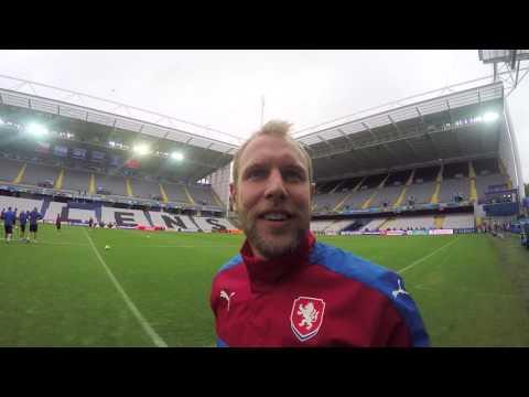 GoPro: Česká reprezentace v Lens před zápasem s Tureckem