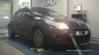 Renault Megane 3 1.9 dci 130cv Reprogrammation Moteur @ 161cv Digiservices Paris 77 Dyno