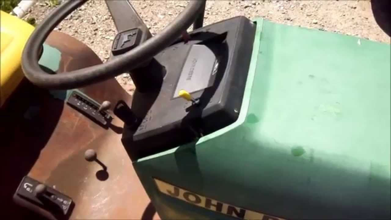 John Deere Seat Switch Wiring Diagram John Deere Lawn Mower Bad Switch Bypass Youtube