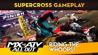 MX vs ATV All Out - New Supercross Gameplay! - Riding Whoops!