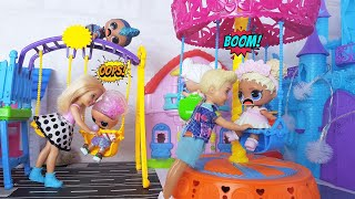 LOL DOLLS VS BARBIE! Who will play at the NEW VENUE?# Dolls # LOL surprise # cartoons new #lol