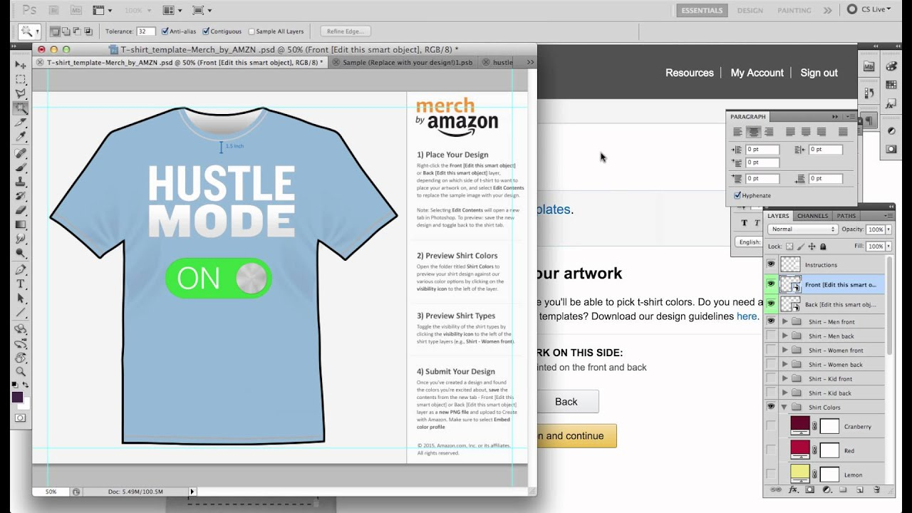 merch by amazon easy blank png template youtube