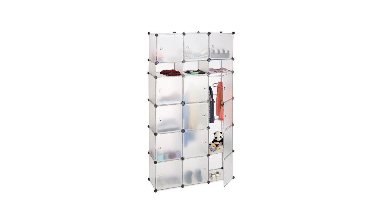 XXL Kleiderschrank mit Stecksystem in Transparent - YouTube