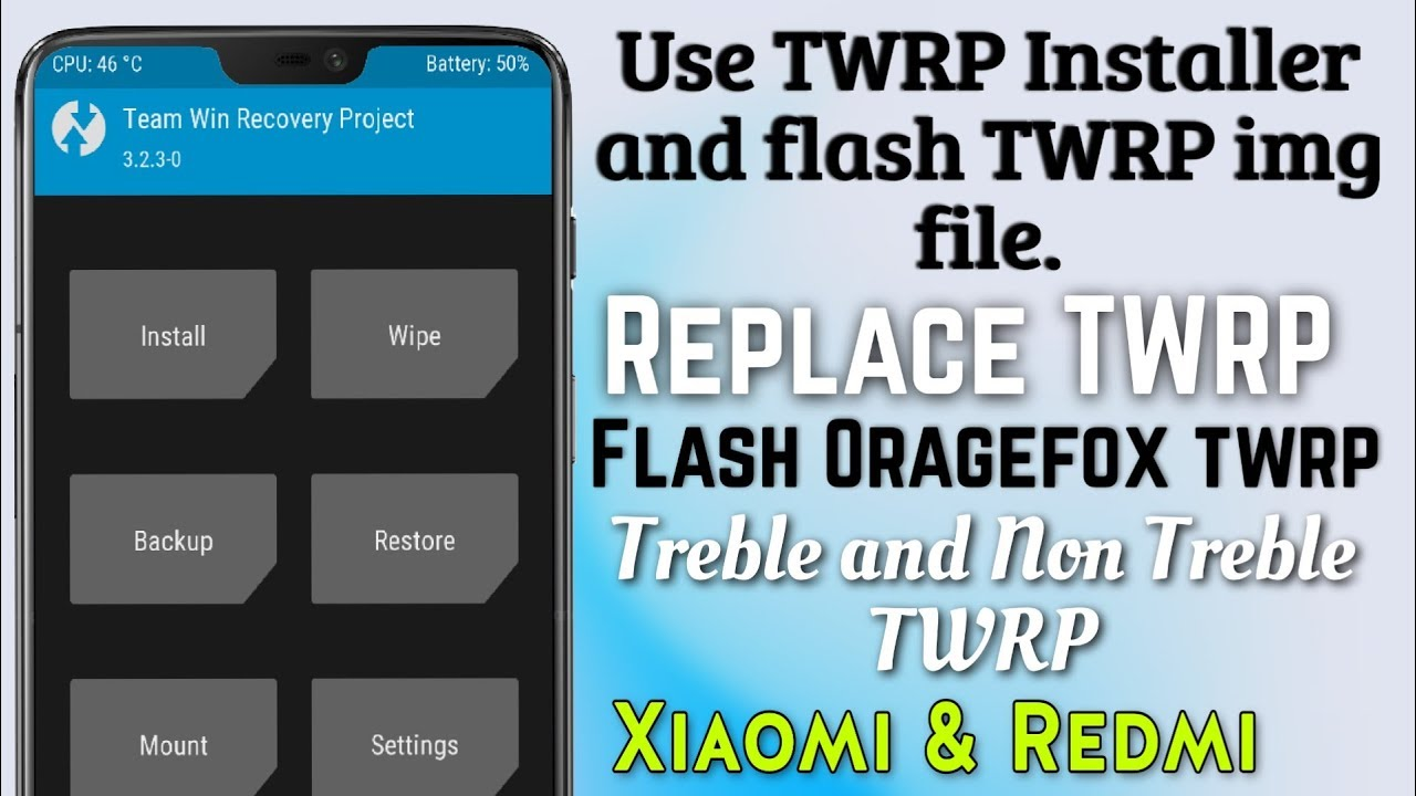 Use TWRP Installer and install twrp img file in Xiaomi & Redmi