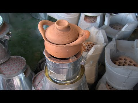 Watch A Craftsman Create A Ceramic Thai Barbecue | How It's Made