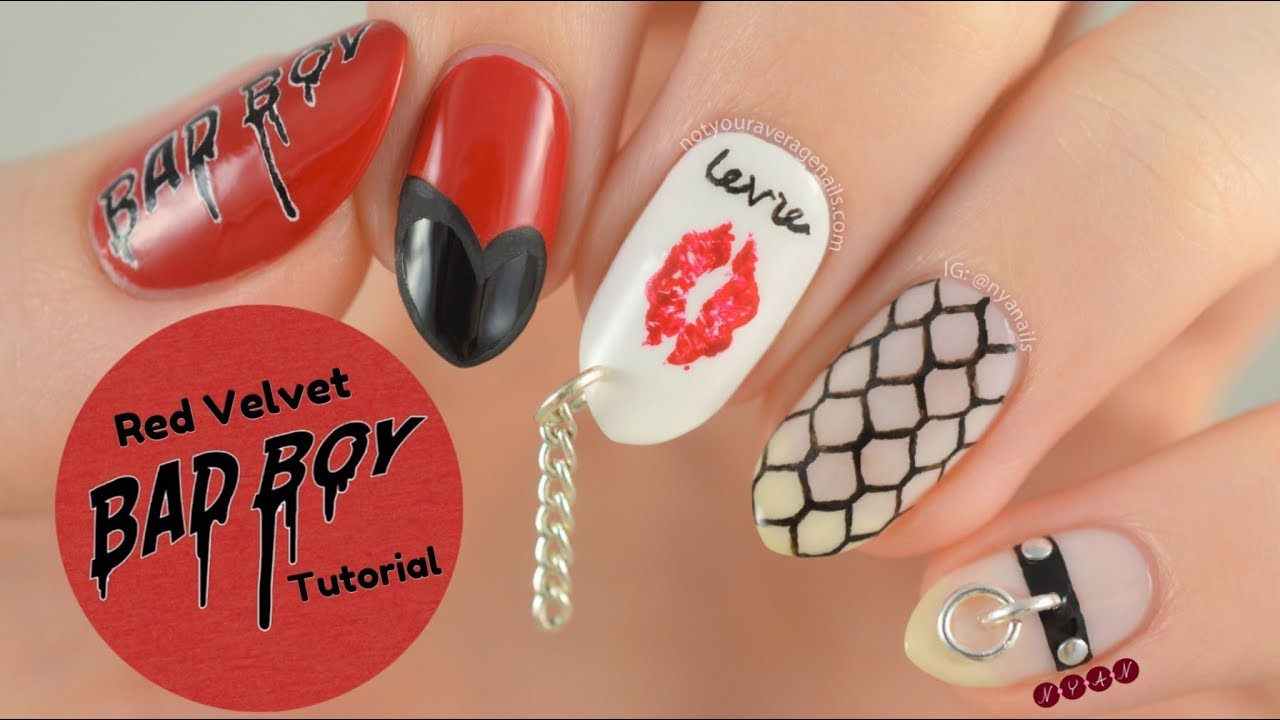 Red Velvet Bad Boy Nail Art Tutorial