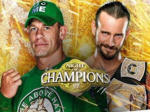 WWE Night of Champions 2012 - CM Punk vs John Cena (WWE 12 Game Machinima THQ)