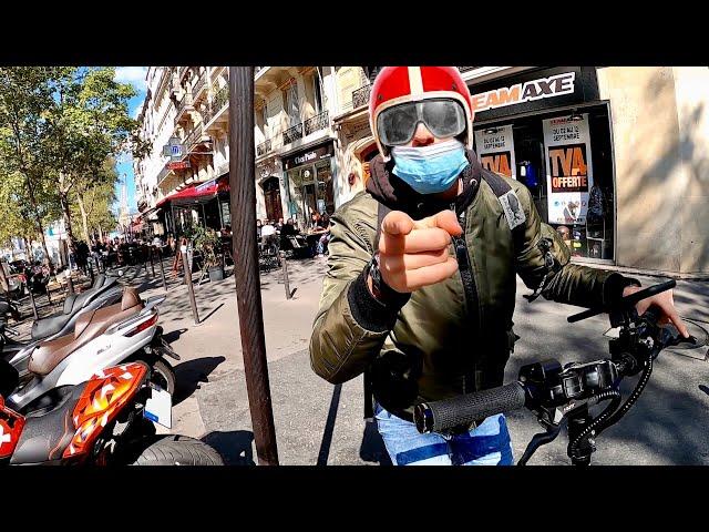 Course dans Paris, Moto VS Trottinette Power