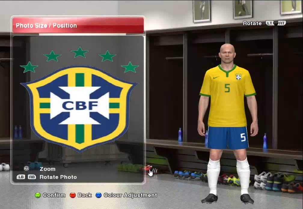 f9073e5b465a3 Uniforme do Brasil 2014 para PES 2014  Tutorial  - YouTube