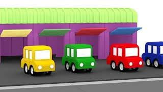 Lehrreicher Zeichentrickfilm - Die 4 kleinen Autos - Wir bau...