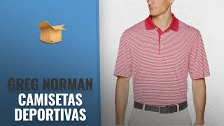 Top 10 Ventas Greg Norman 2018: Greg Norman Men's Ml75 Bar Stripe Polo Golf Shirt