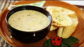 Sunday Munchies-how To Make Creamy Oatmeal Corn With Quail Eggs Soup With Butter French Bread Toast