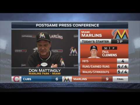 Don Mattingly -- Miami Marlins vs. Chicago Cubs 06/25/2016