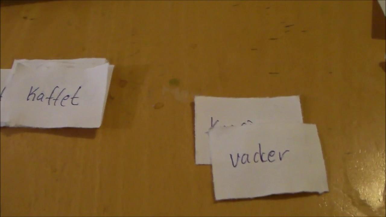 Tips 2 - lära sig ord med lappar - Svenska för Nyanlända - Swedish for beginners
