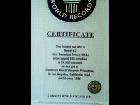 World's Fastest Rapper [Guinness Primetime]