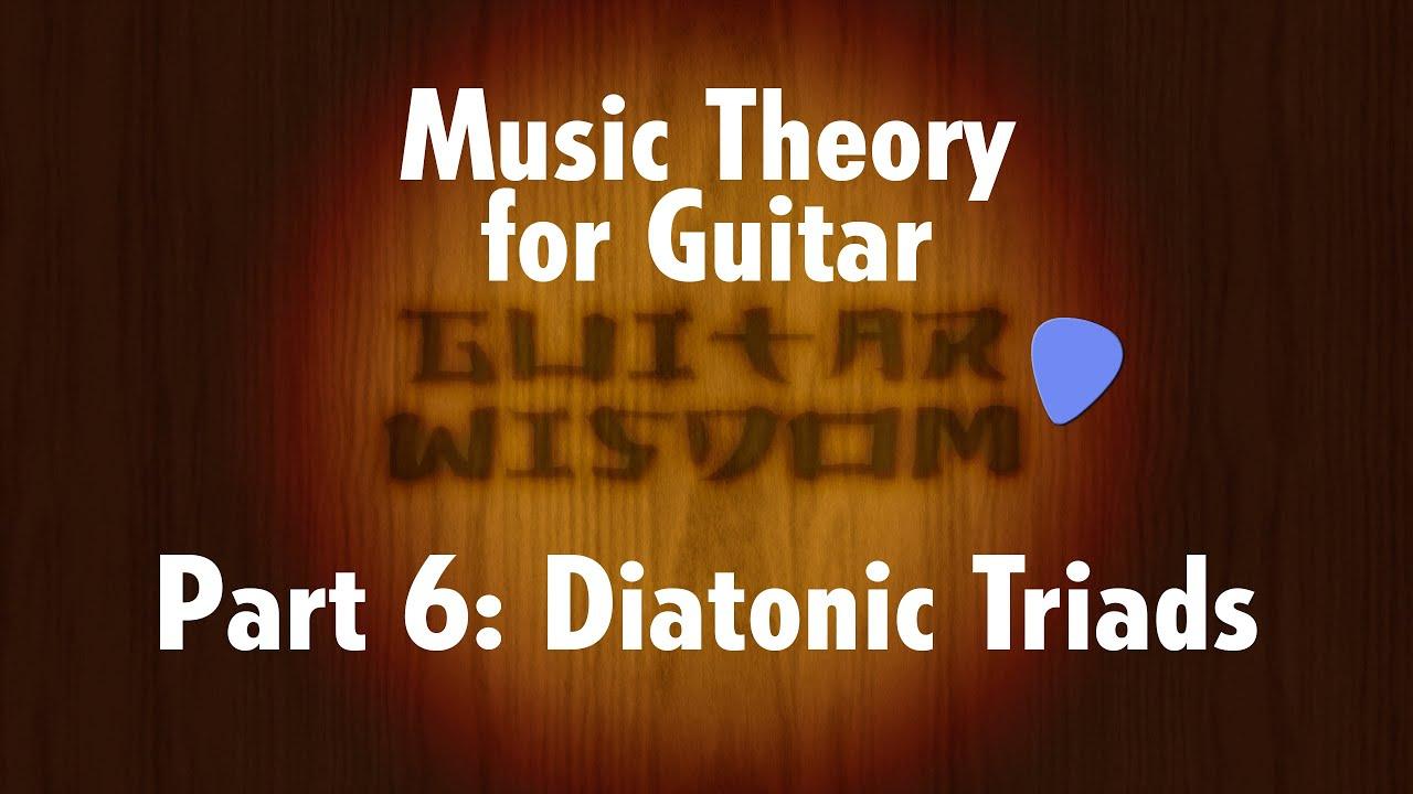 how to explain diatonic triads
