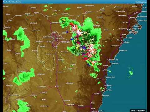 Weatherzone stormtracker of Tarago storm, 20140309 18:30
