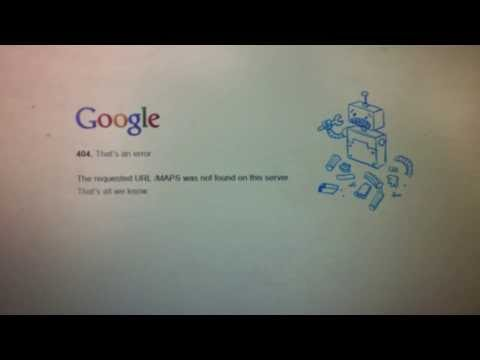 Google error 404 - The requested URL / map was not found on this server.