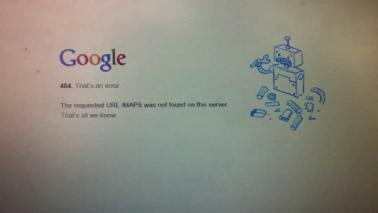 How to fix Google error 404 - The requested URL / map was not found on this server