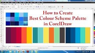 Learn CorelDraw in hindi tutorial 28 uniform fill tool and color pallate in corel draw
