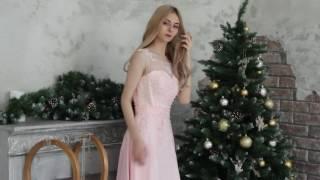Свадебное светло-розовое платье прокат платьев Rentaholic Уфа