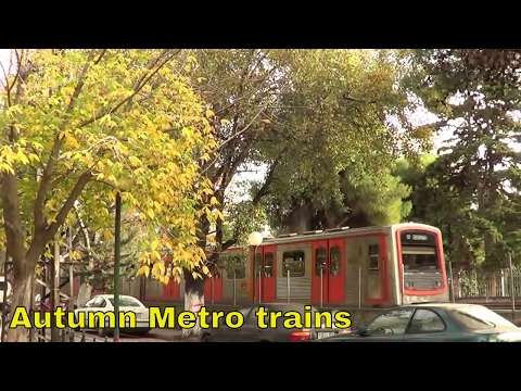Athens Metropolitan Railways line 1, late autumn trains