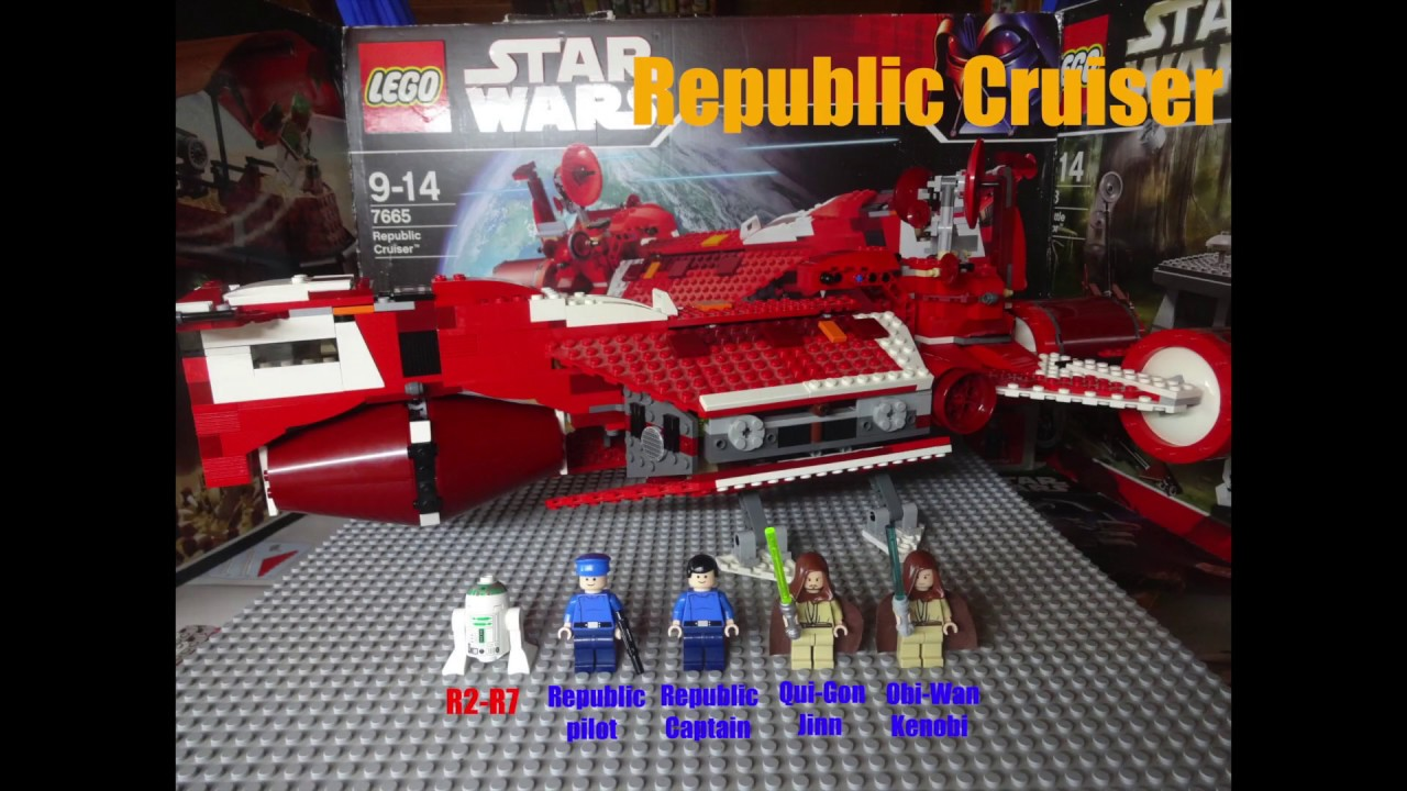Lego Star Wars Republic Cruiser Animated Building Review Youtube 7665