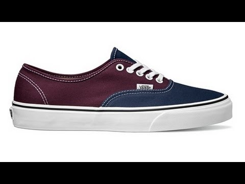 3633f95379 Shoe Review  Vans  Vintage 2-Tone  Authentic (Dress Blues Fig) - YouTube