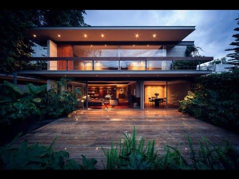 Planos de casa cuadrada fachada y dise o de interiores - Disenos interiores de casas ...