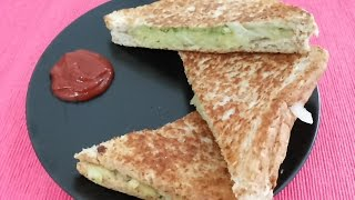 Masala toast sandwich without Toast Maker-Indian healthy Snacks,veg sandwich toast