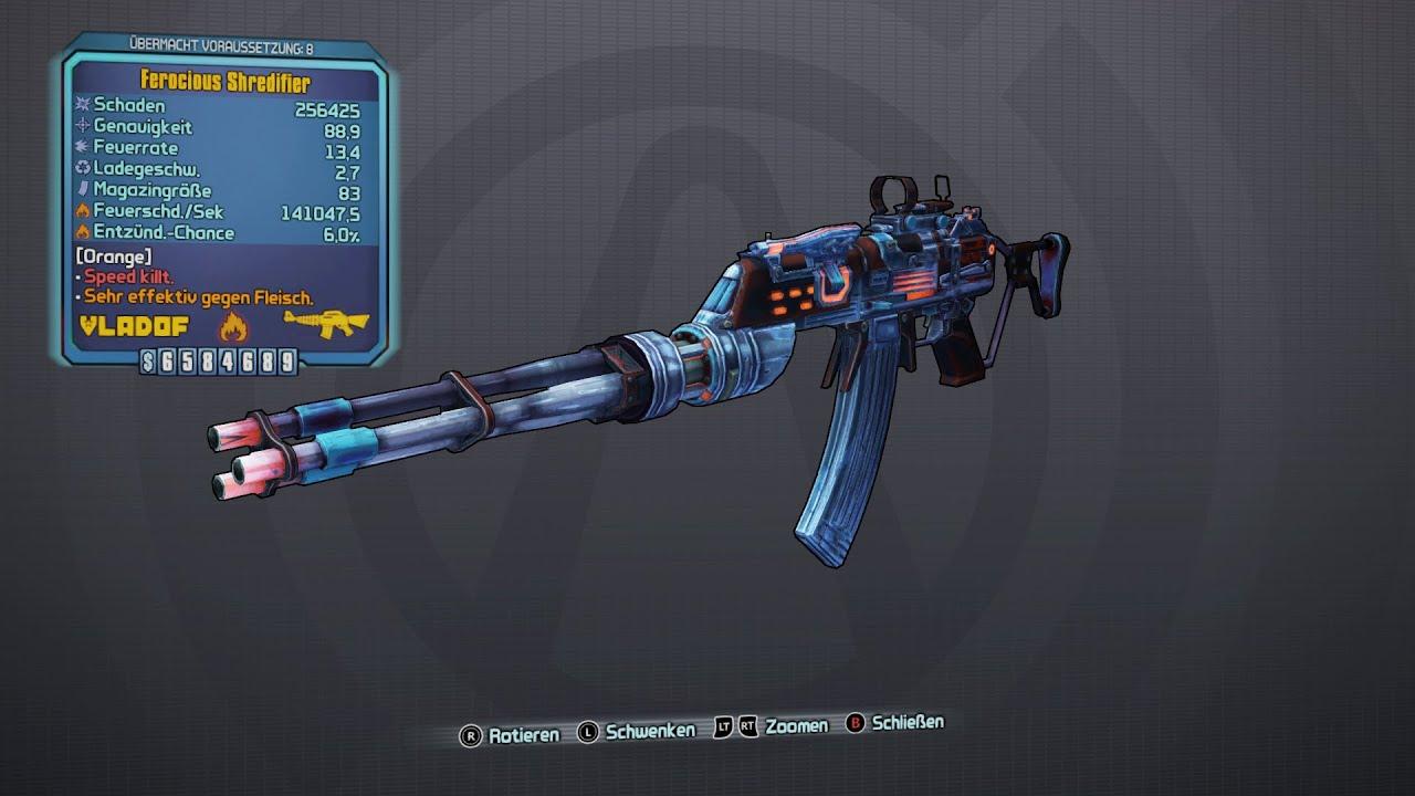 Borderlands 2 - Vladof Assault Rifles: Shredifier