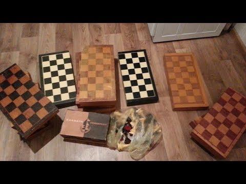 Все шахматы купленные на барахолке на сумму 12 800.Разговор по душам.